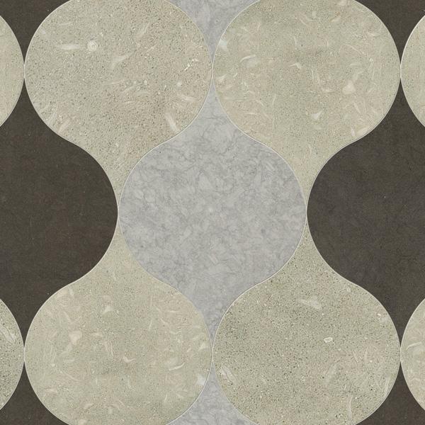 Olive Green, Gray Foussana, Thala Gray D Honed 12,5x17,5 Winter Leaf Mermer Fayans