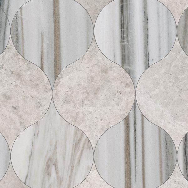 Skyline, Silver Shadow Honed 12,5x17,5 Winter Leaf Mermer Fayans