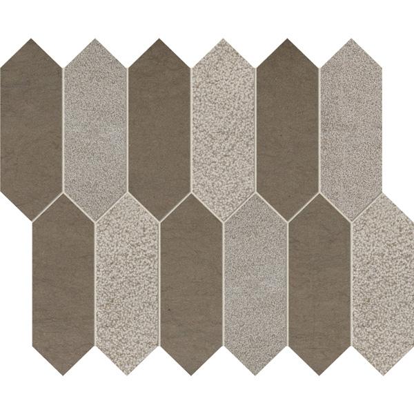 Gray Foussana Multi Finish 33,5x28 Medium Picket Mermer Mozaik