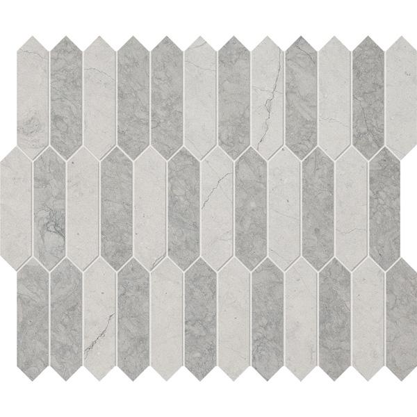 Thala Gray Dark, Thala Gray Honed 33,5x28 Baby Picket Mermer Mozaik