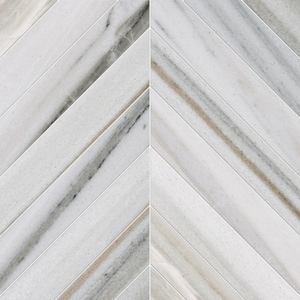 Skyline Vein Cut Polished 6,5x16,5 Chevron Mermer Mozaik