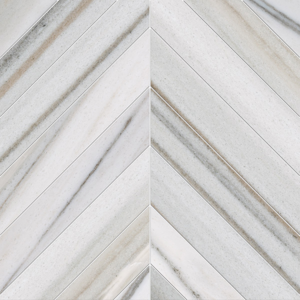 Skyline Vein Cut Honed 6,5x16,5 Chevron Mermer Mozaik