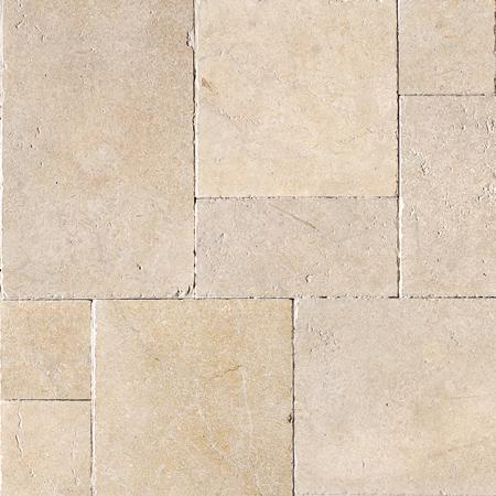 Seashell Tumbled Versailles Pattern Limestone Pattern