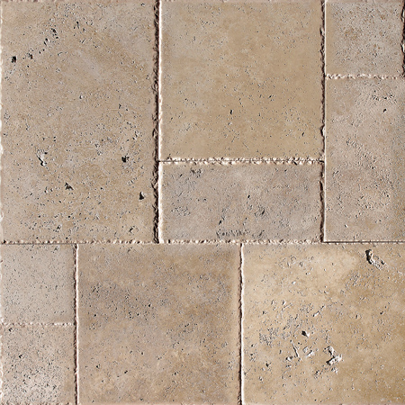 Walnut Dark Unfilled Chiselled Versailles Pattern Traverten Pattern