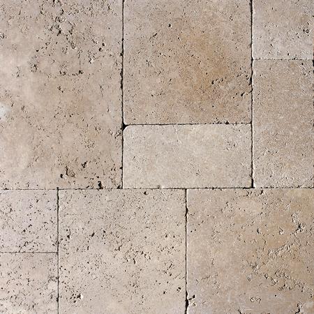 Walnut Dark Tumbled Versailles Pattern Traverten Pattern