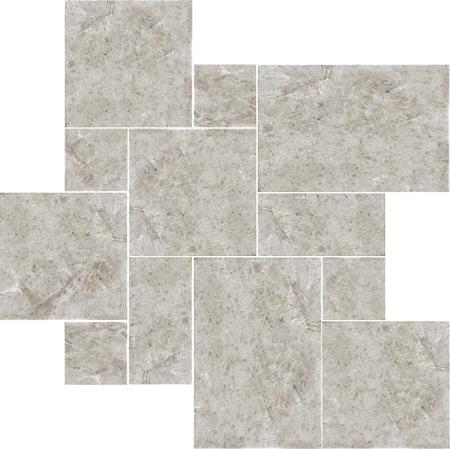 Silver Shadow Rustic Versailles Pattern Mermer Pattern