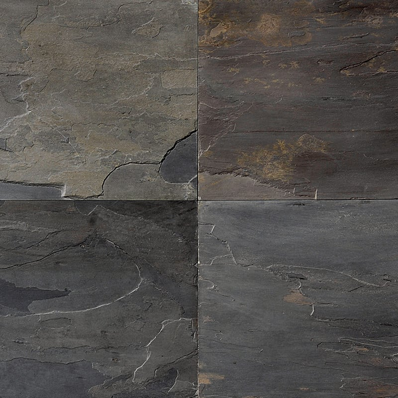 African Black Natural Cleft Slate Fayans