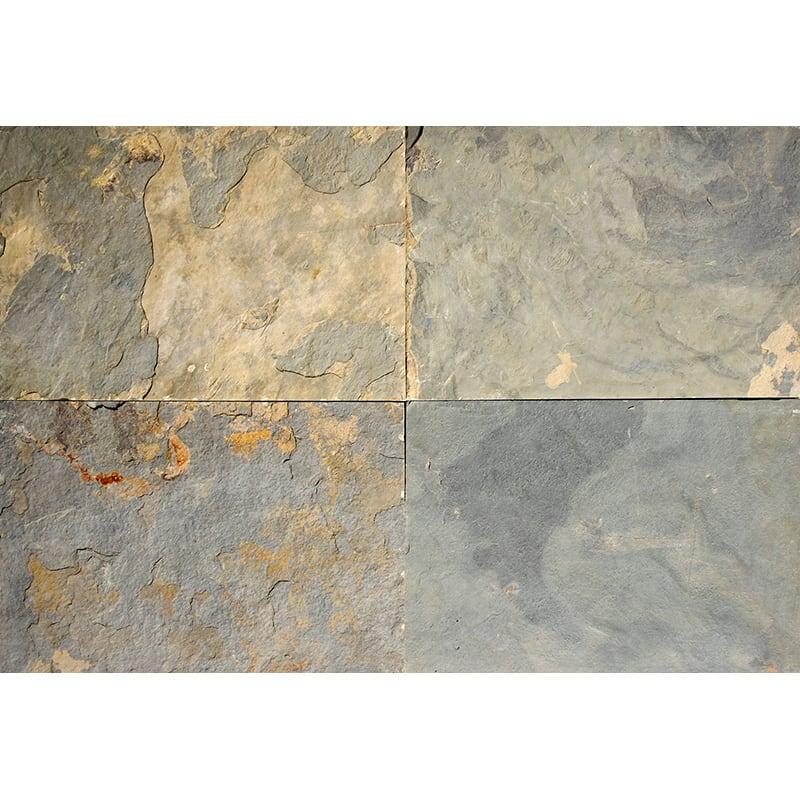 Metallic Mix Natural Cleft Slate Fayans