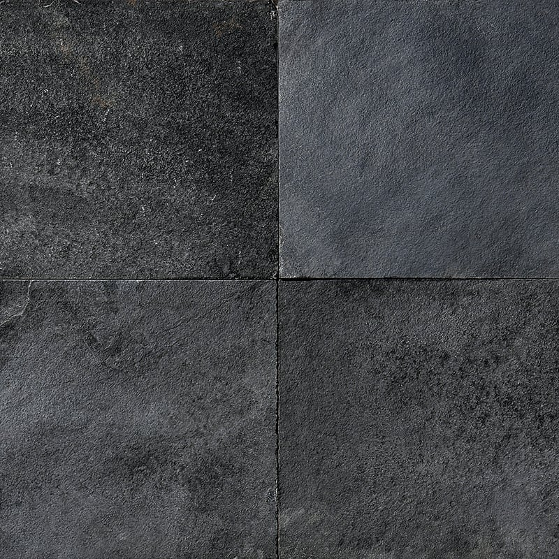 Night Black Natural Cleft Slate Fayans