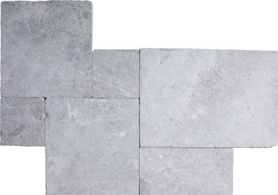 Silver Pearl Tumbled Versailles Pattern Mermer Pattern