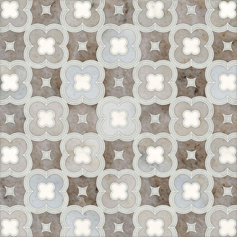 Avenza Light, Dolomite, Palisandra Multi Finish 27,94x27,94 Damascus Mermer Mozaik