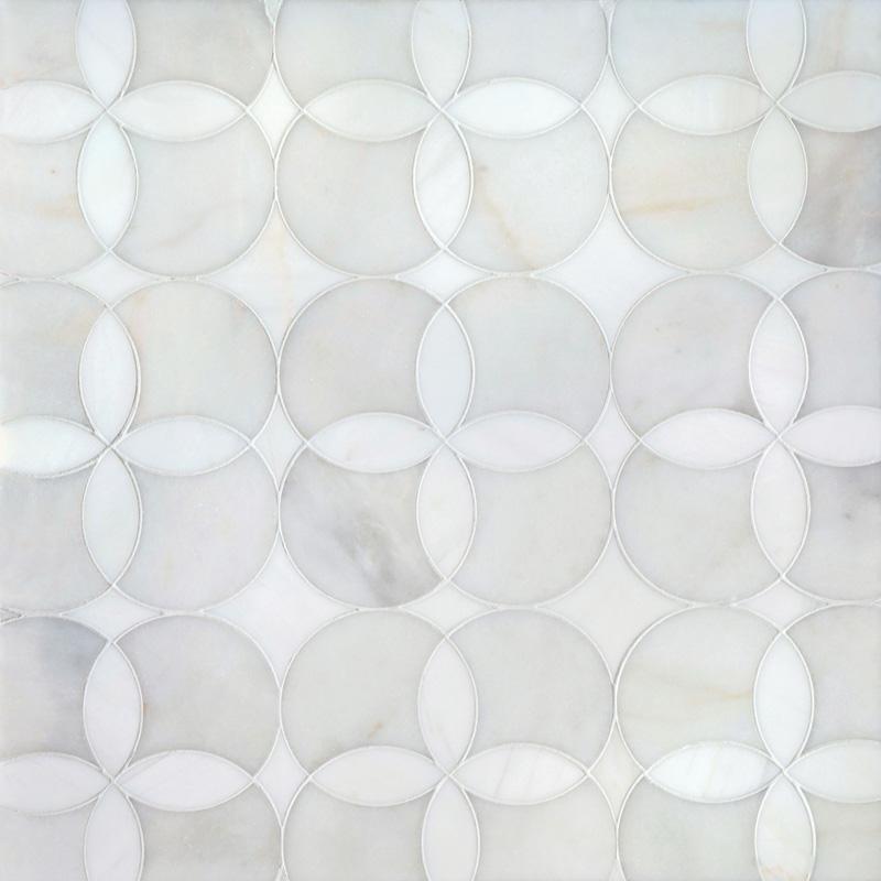 Afyon White, Dolomite Multi Finish 34,52x34,52 Constantine Mermer Mozaik