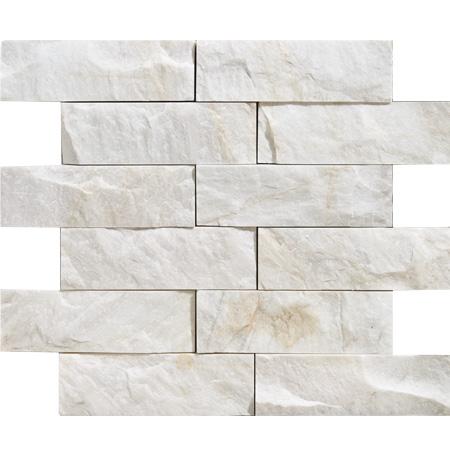 Snow White Rock Face 30,5x35,55 5x15,2 Mermer Mozaik
