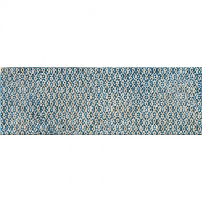 Ottoman Textile 1 Indigo 10x30,5 Mermer Fayans