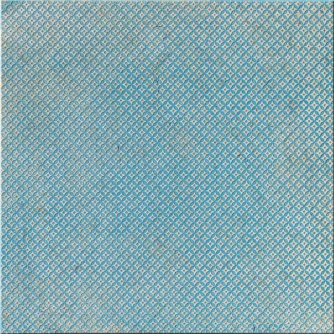 Ottoman Textile 2 Indigo 10x10 Mermer Fayans