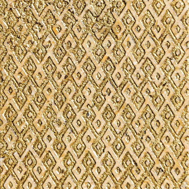 Ottoman Textile 1 Gold 30,5x30,5 Mermer Fayans